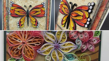 Quilled greeting card kit