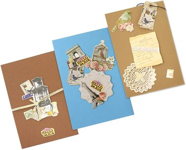 Vintage greeting card kit
