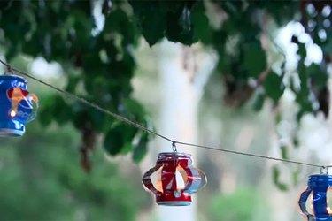 Soda Can Hanging Lanterns