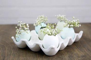 Easter Eggshell Vases