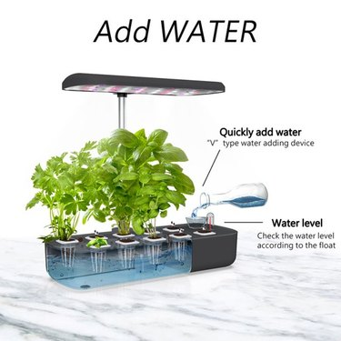 Indoor hydroponic gardens offer an alternative to growing crops outdoors.