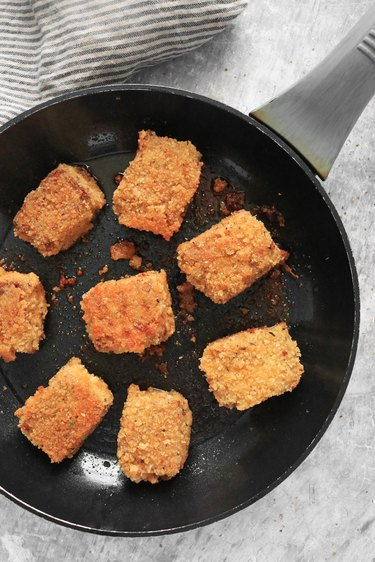 Fry crispy tofu nuggets