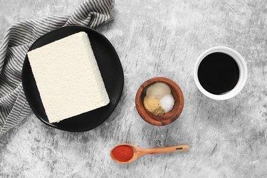 Marinated tofu ingredients