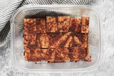 Marinate the tofu