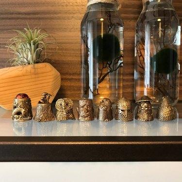bronze thimble collection
