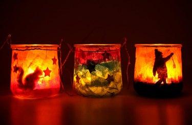 Crepe Paper Jar Lantern Kit