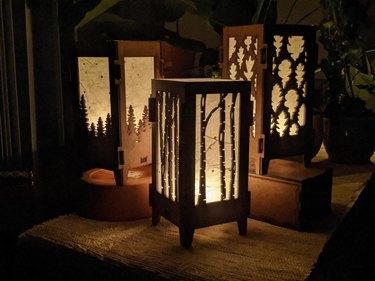 Wood and Paper Lantern Kits