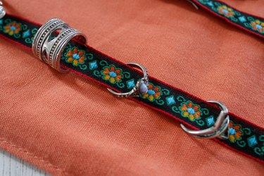 rings in jewelry roll organizer