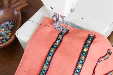 sew ribbon ends
