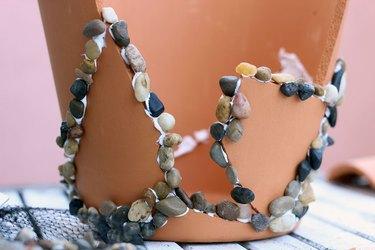 pebbles along seams