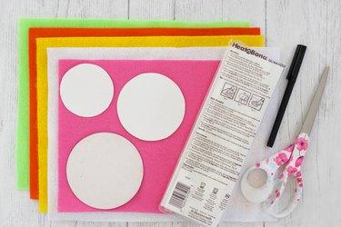 materials for felt citrus coasters