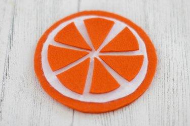 orange fruit-slice coaster