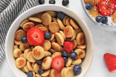 Mini pancake cereal from TikTok