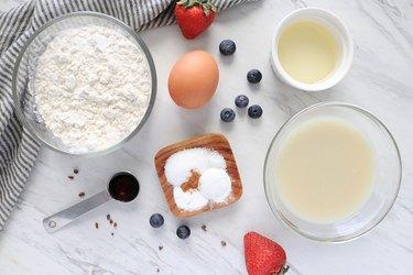 Ingredients for mini pancake cereal