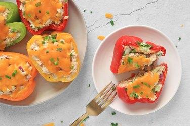 Tuna melt stuffed peppers