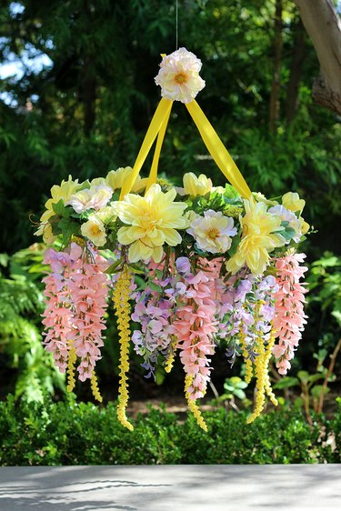 finished flower chandelier