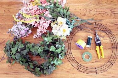 materials for flower chandelier
