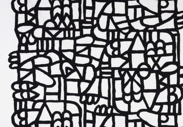 Black and white squiggle pattern