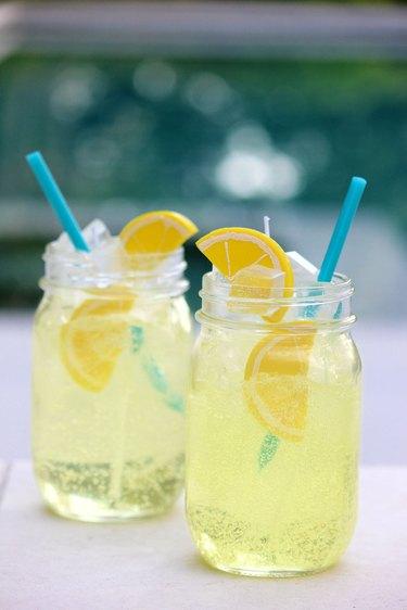 finished lemonade candles