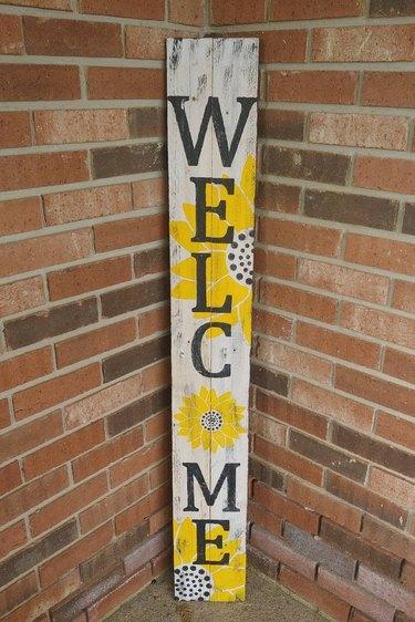 Welcome Sunflower Porch Stencil Kit