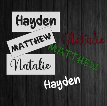 Name/Word Stencils