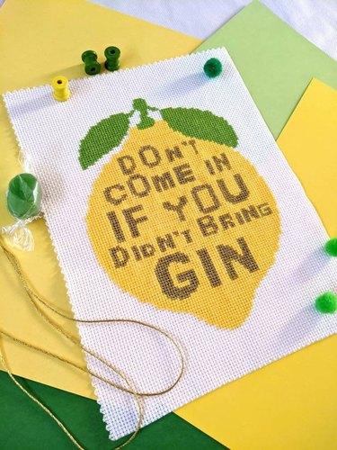 Gin Cross-Stitch Kit