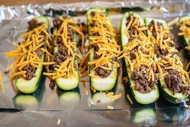 Fill zucchini