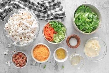 Ingredients for popcorn salad