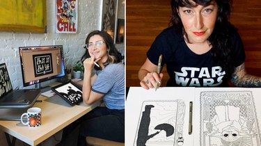 Society6 Artists Miai Faddoul and Cassidy Marietta