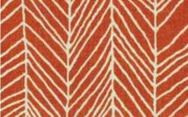 Orange and white line pattern