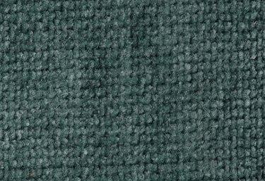 Green nubby velvet fabric