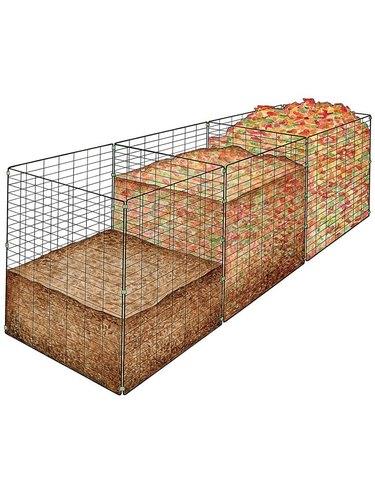 Gardener's Supply Company's 3-Bin Wire Composter