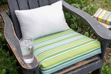 no-sew outdoor patio cushion