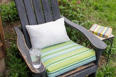 outdoor patio cushion on chair