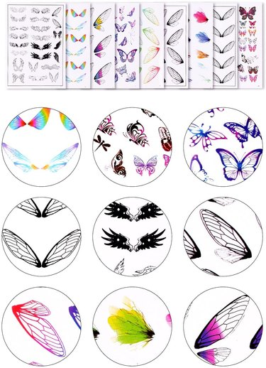 Lorvain 9 Sheets Resin Decorate Films