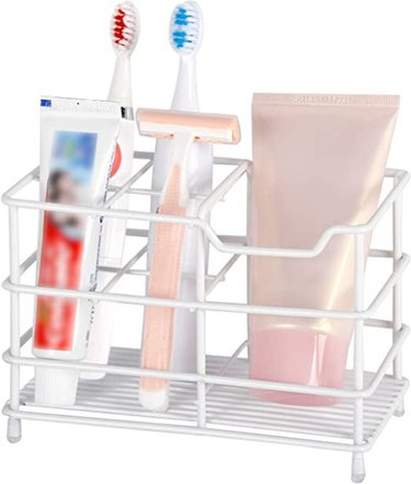 WEBI Toothbrush and Toothpaste Holder, Organizer Stand Caddy