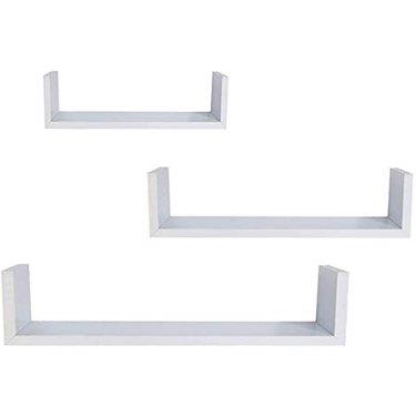 EWEI's HomeWares Whc 1004 Cd 3 Floating U Shelves - White