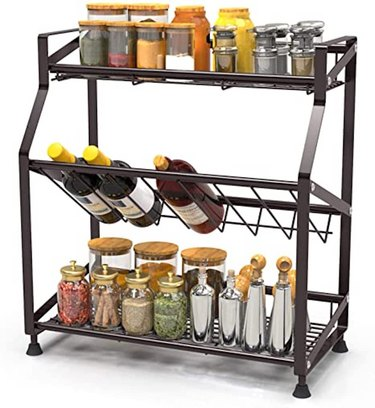 Spice Rack 3 Tier iSPECLE Spice Organizer Standing Rack