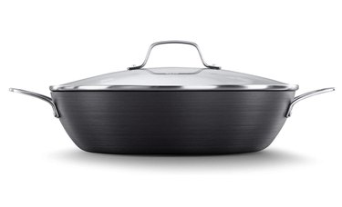 Calphalon Classic Nonstick All Purpose Pan With Cover, 12-Inch, Grey