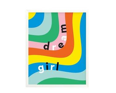 Dream Girl Typographic Art Print