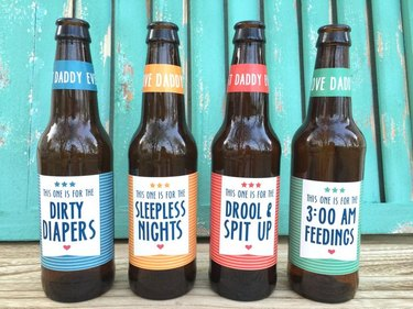 First-Time Dad Beer Labels
