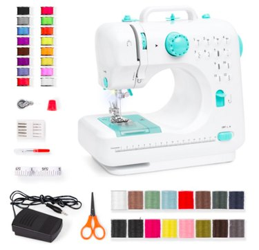 Best Choice Products 6V Portable Sewing Machine, 42-Piece Beginners Kit w/ 12 Stitch Patterns - Teal