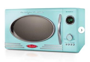 Nostalgia Retro 19'' 0.9 Cubic Feet cu. ft. Countertop Microwave