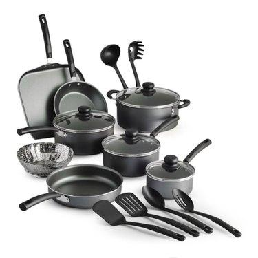 Tramontina Primaware 18 Piece Non-stick Cookware Set, Steel Gray