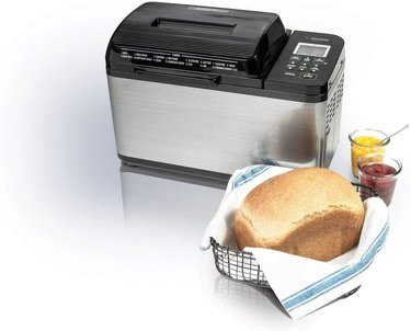 Zojirushi bread maker with bread and preserves