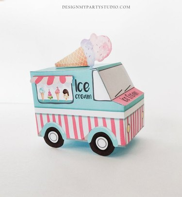 Printable Ice Cream Truck Party Favor