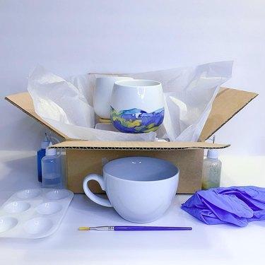 Alcohol Ink Planter or Mug Kit