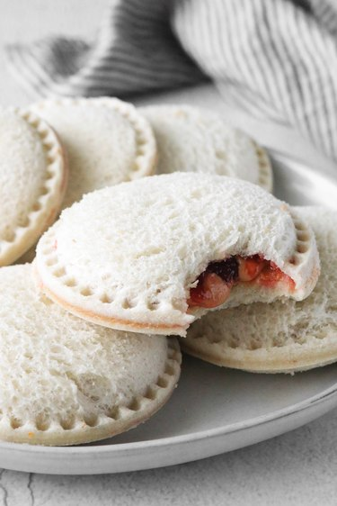 Finished DIY Uncrustables sandwiches