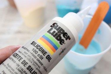 adding silicone oil