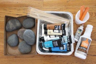 materials for paint pour rocks